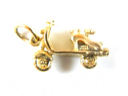 Gold Moped Charm