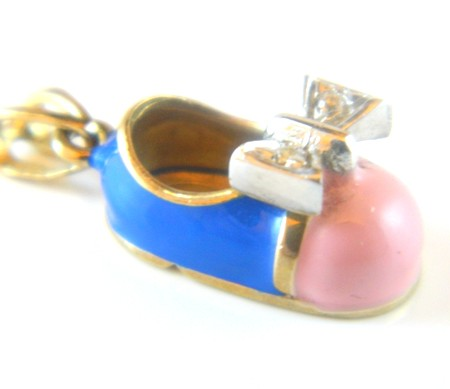 Gold Childs Shoe Charm