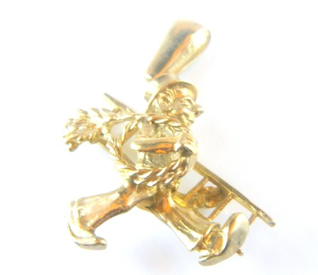 Gold Chimney Sweep Charm