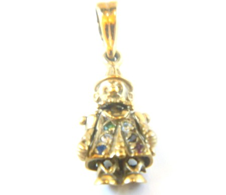 Gold Clown Charm
