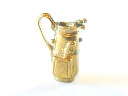Gold Golf Bag Charm