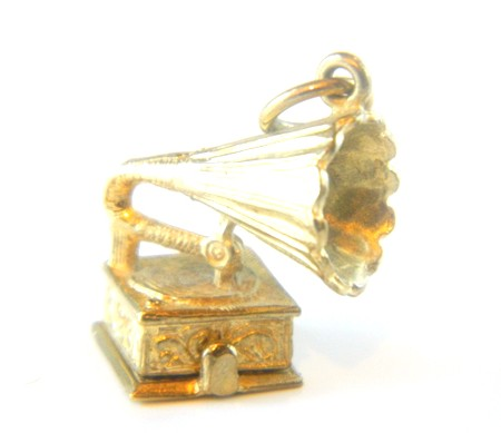 Gold Gramaphone Charm
