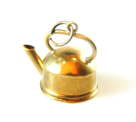 Gold Kettle Charm