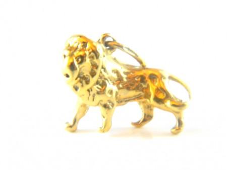Gold Lion Charm