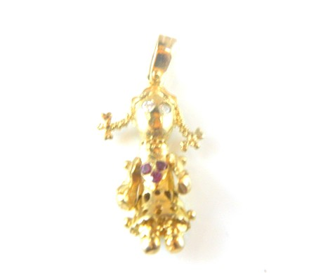 Gold Rag Doll Charm