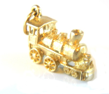 Gold Train Charm