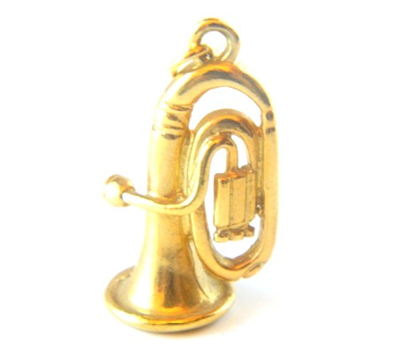 Gold Trumpet Charm