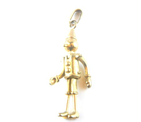 Gold Wooden Boy Charm
