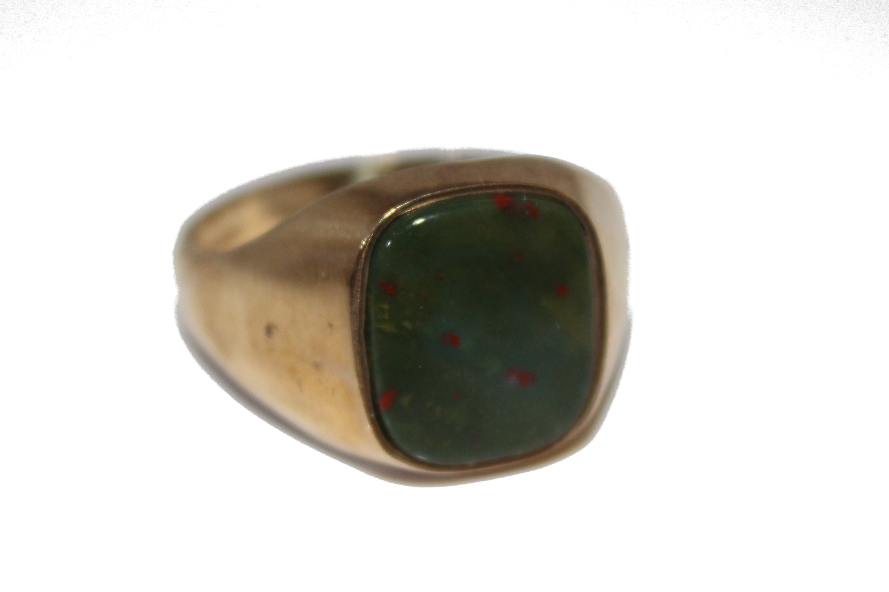9ct Gents Ring Bloodstone £275 6.9g