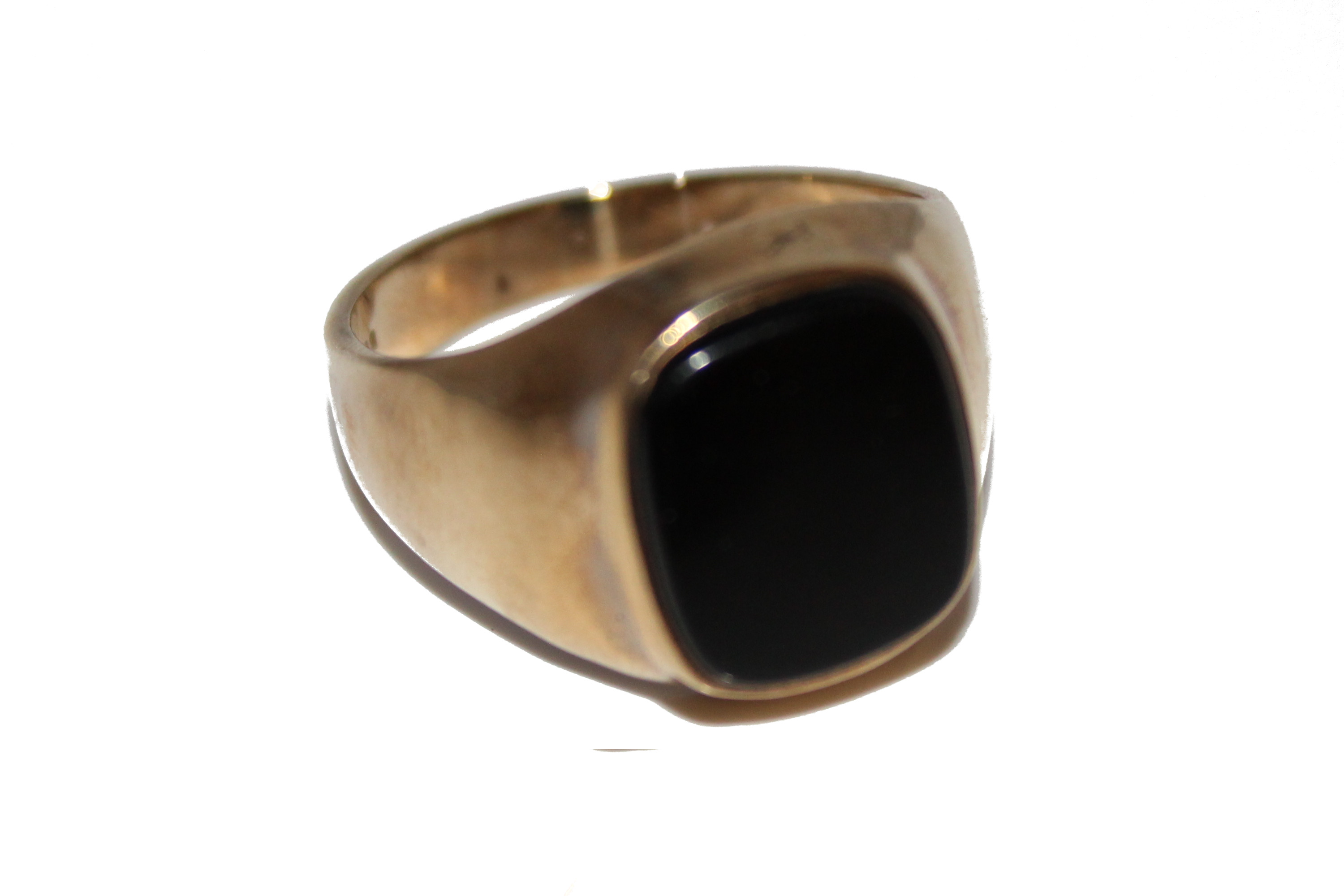 9ct Gents Ring Cabochen £175 O 5 (2)