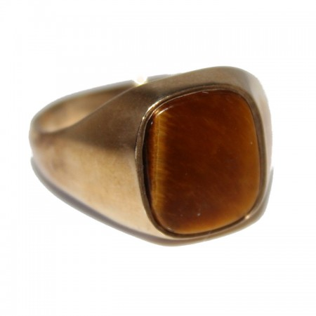9ct Gents Ring Tigers Eye £295 V 6.0g