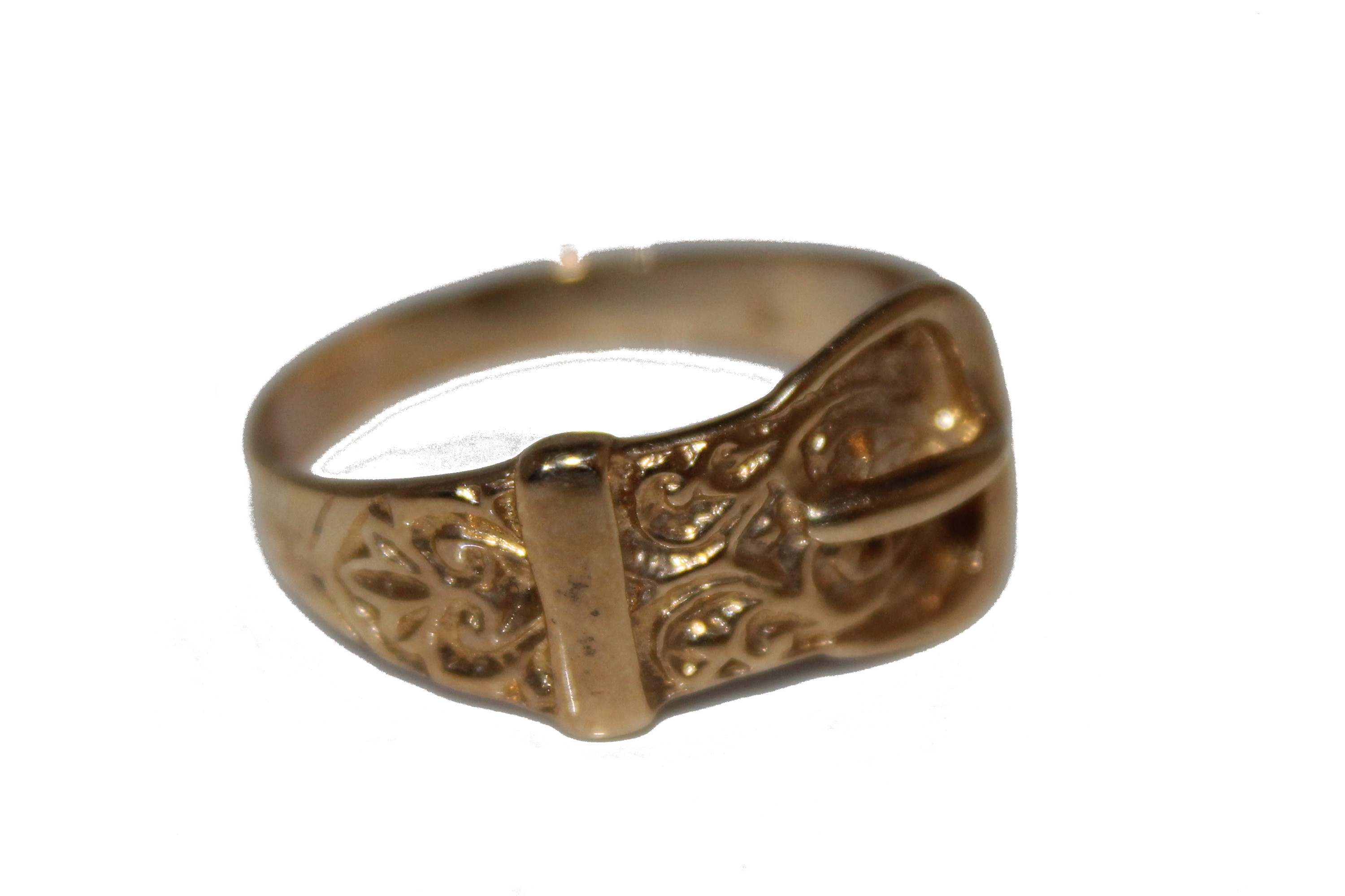 9ct Gents Ring buckle ring £155 3.9