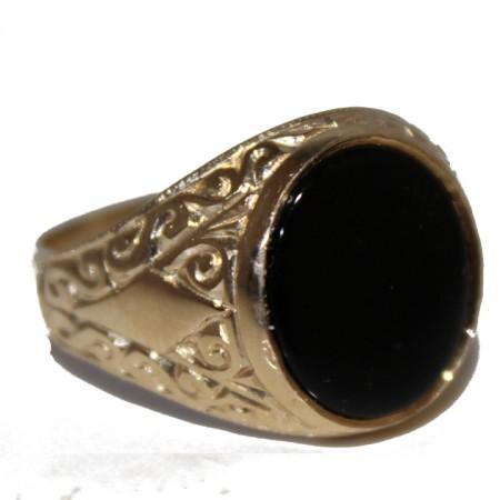 9ct Gents Ring onyx £195 V 5.4
