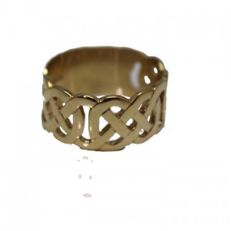 9ct celtic ring 8.5 £295 z