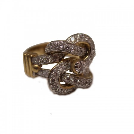9ct cubic knot ring £875 23.6 z+1
