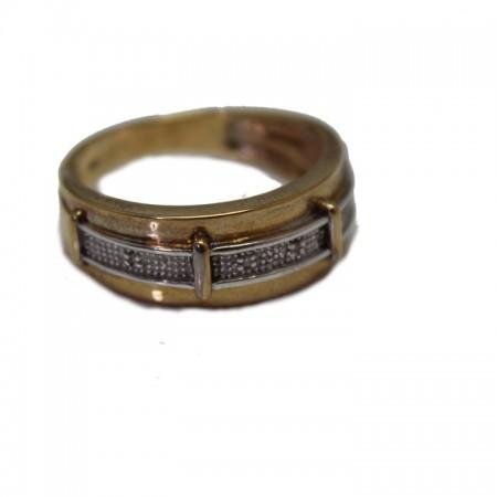 9ct diamond gents ring 6.1 £245 Z