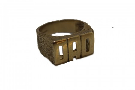9ct gents dad ring £365 z+1