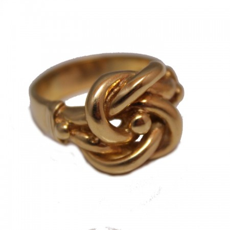 9ct gents knot ring £775 z+8