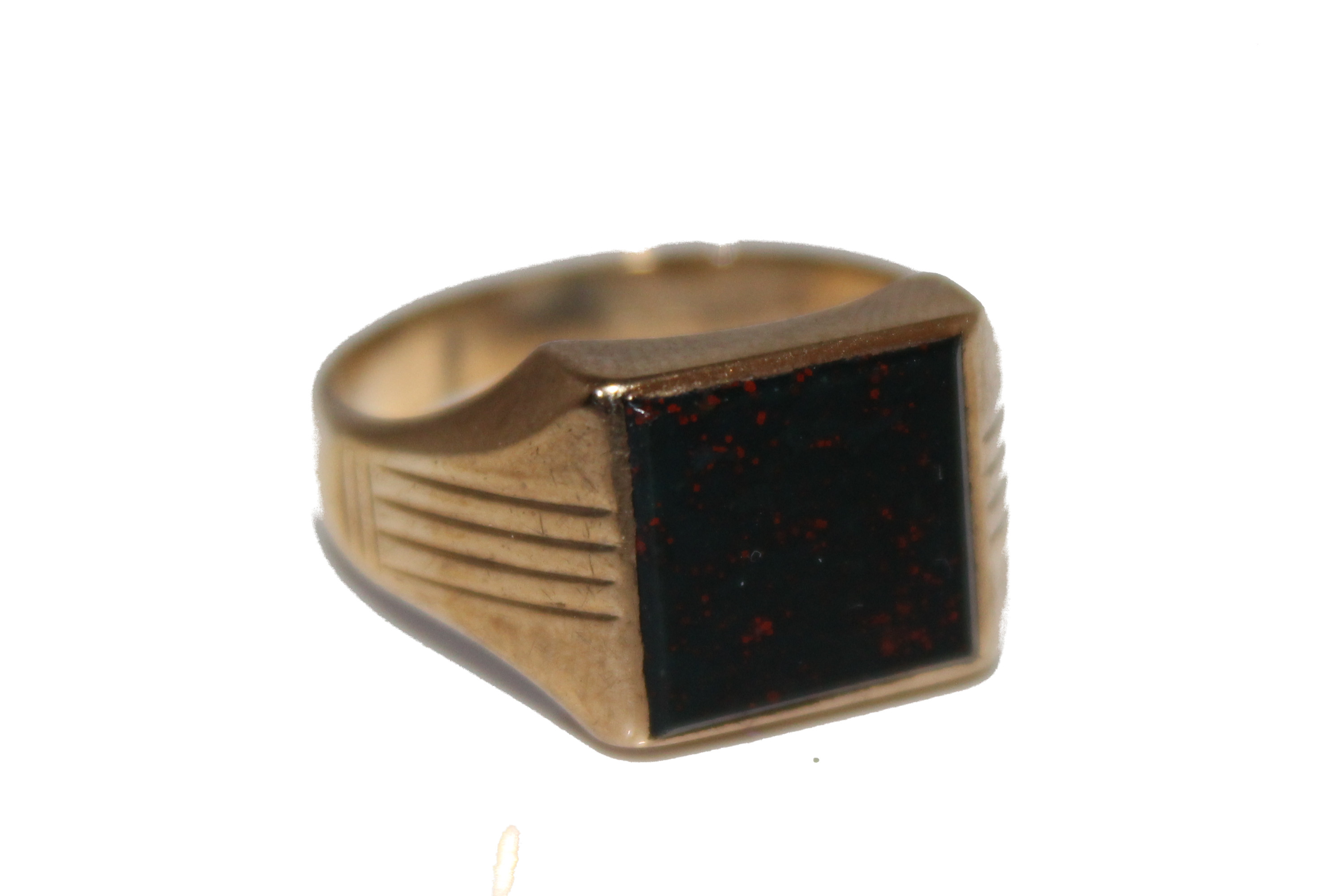 9ct gents ring Bloodstone £145 5.4