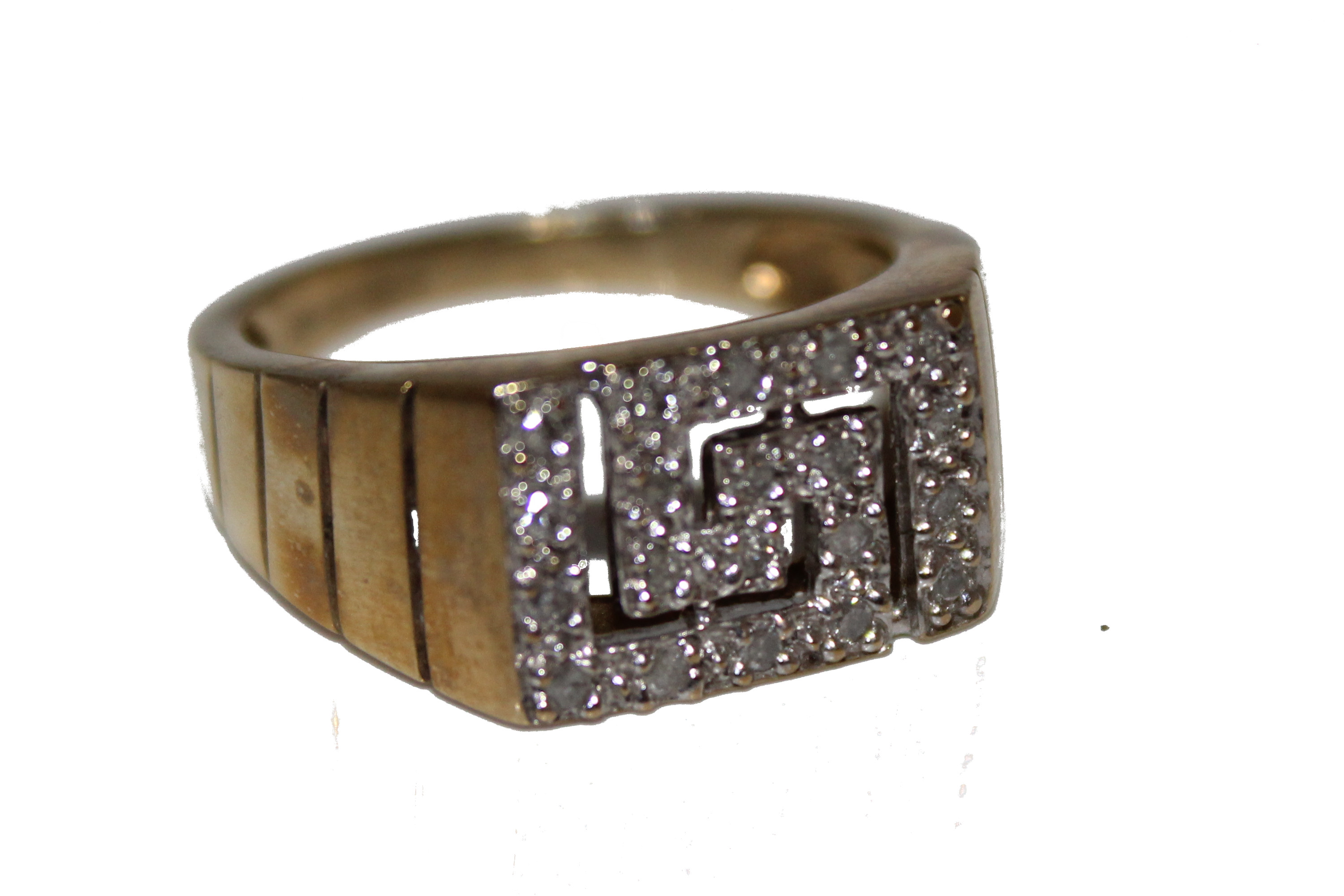 9ct gents ring Diamond O 4.9 £145