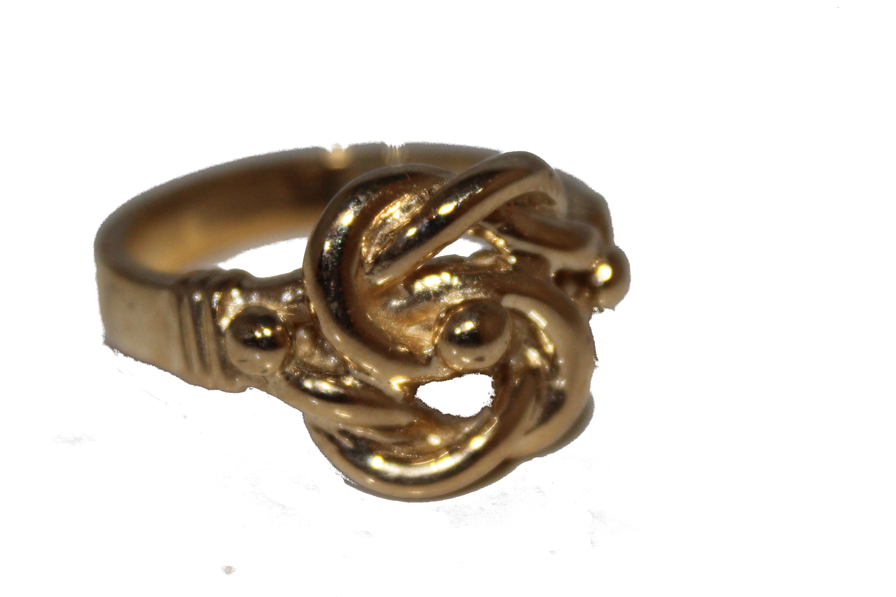 9ct gents ring Knot £275 T 8.5