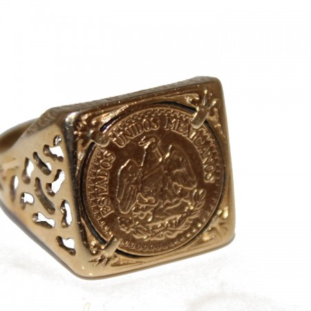 9ct gents ring Peso £145 4.4