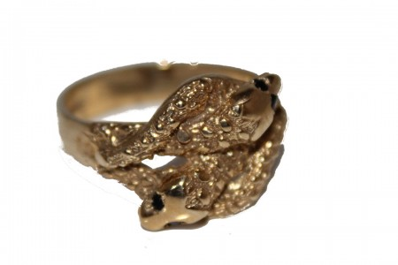 9ct gents ring snake Sapphire £265 7.6